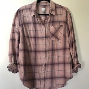 A new day womens plaid flannel